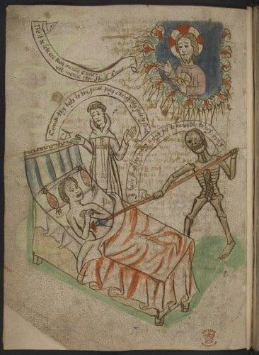 medieval deathbed
