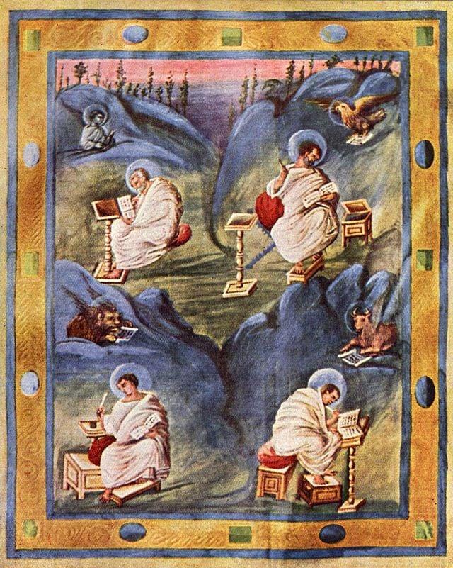 Carolingian Aachen Gospels (c. 820)