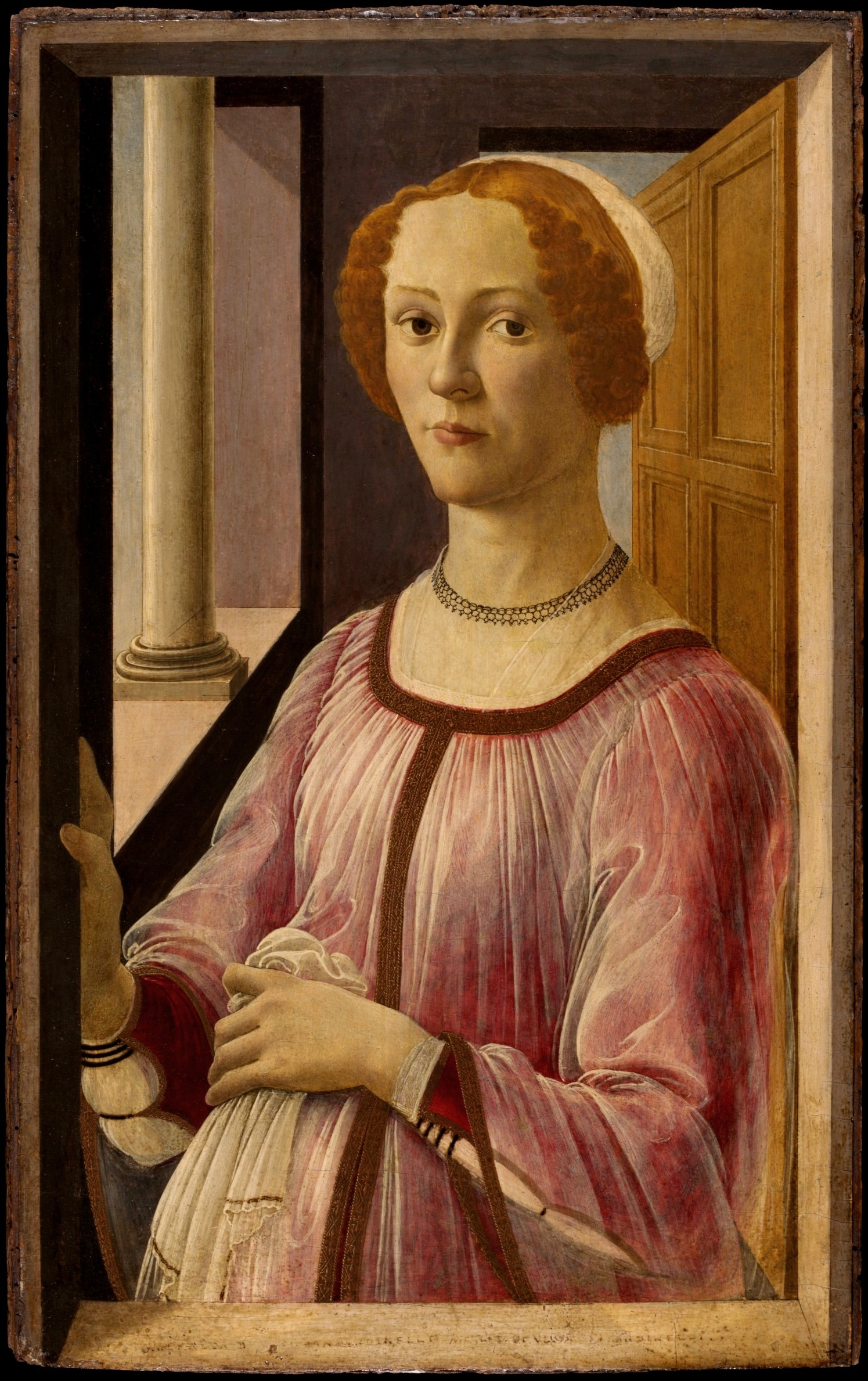 Portrait of a Lady known as Smeralda Brandini (1471) by Botticelli
