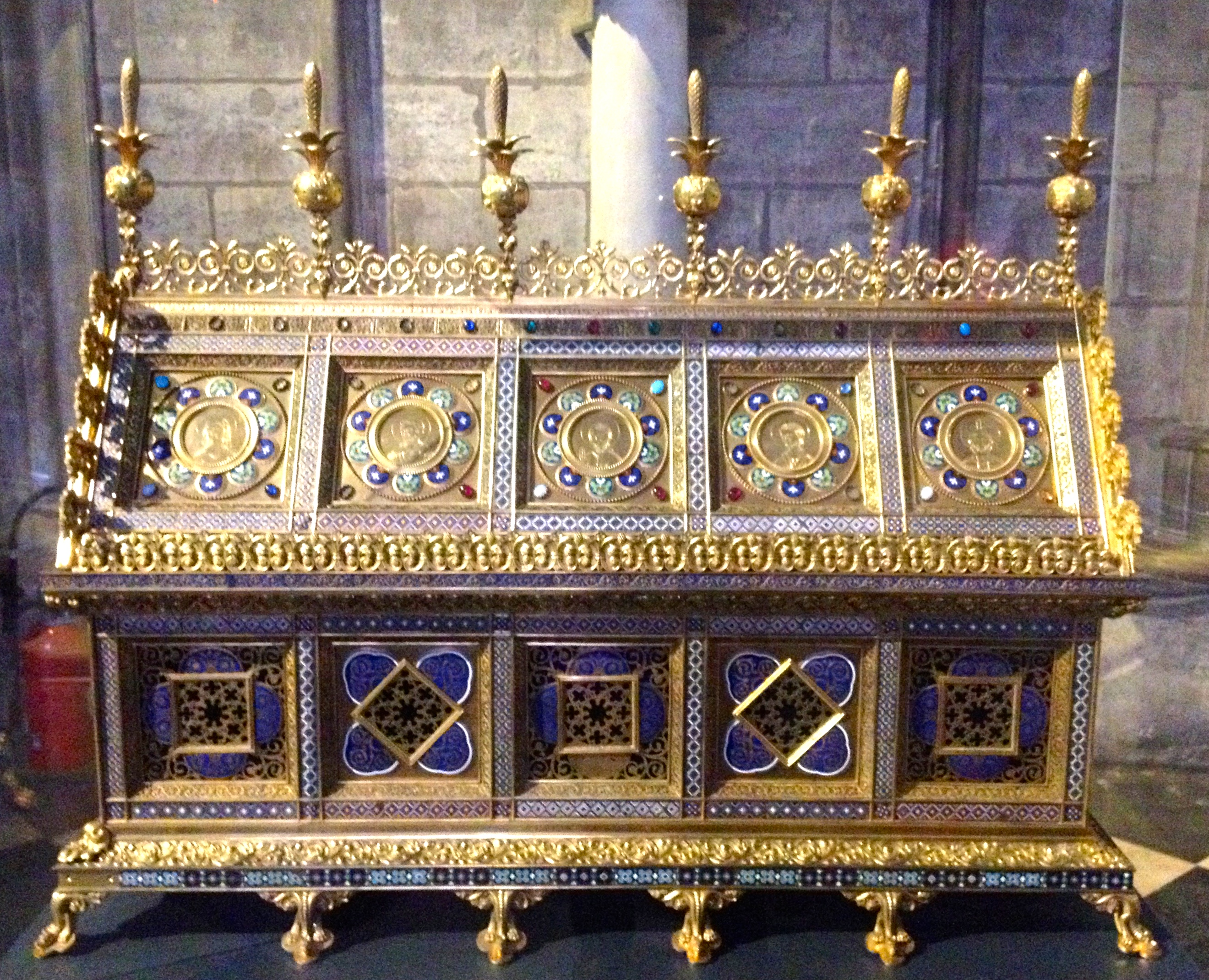 Reliquary of St. Genevieve in Notre Dame Cathedral, Paris, France.