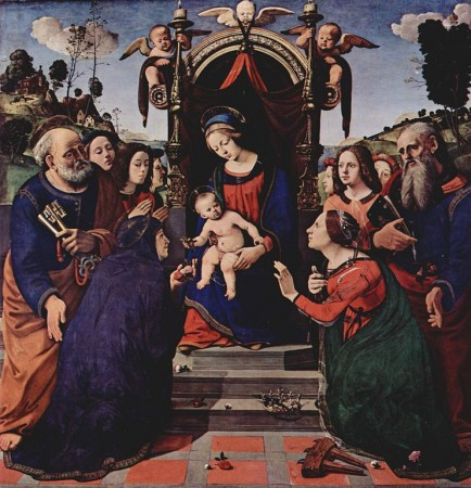 15th century painting of Rose of Viterbo by Piero di Cosimo