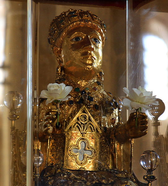 olden statue reliquary of St. Foy, from the treasury of Conques.