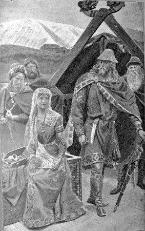 Illustration to Laxdœla saga, chapter 44