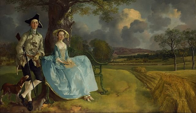 Mr. and Mrs. Robert Andrews, (c. 1748–1750) - by Thomas Gainsborough