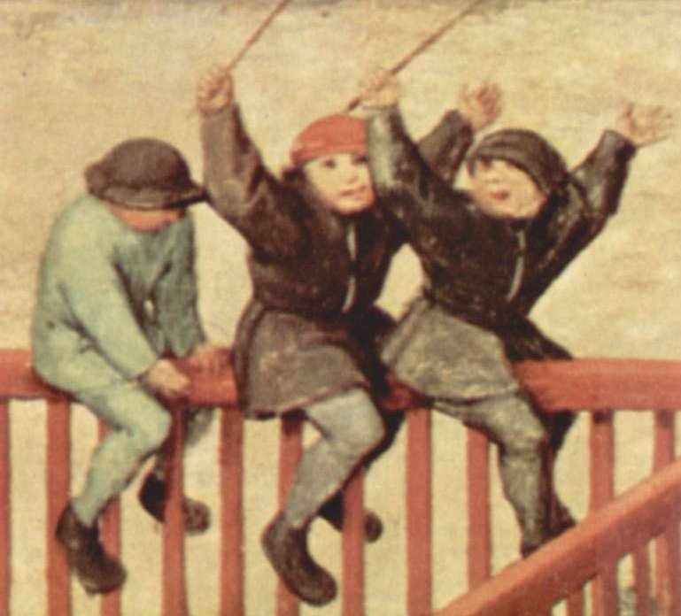Medieval children at play