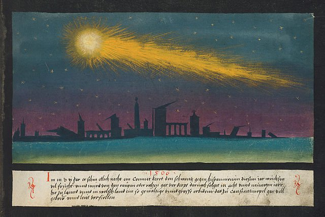 comet - from The Book of Miracles (Augsburg, 16th century)