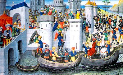 The Fourth Crusade - the capture of Constantinople