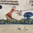 A survey of illuminated medieval manuscripts from Europe reveals depictions of several different methods used in the Middle Ages for catching butterflies.