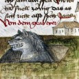 Whether it's dangling over a cliff or cutting hair, if you can think of it a medieval artist drew it in a manuscript! Here are some of the best images we found this week