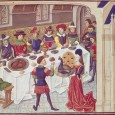 When speaking of medieval foods, most people think of one or two things: drab, tasteless foods, or the historically inaccurate meals served at medieval reenactments where patrons eat sans utensils while watching some sort of entertaining reenactment. Both conceptions couldn't be further from the truth.