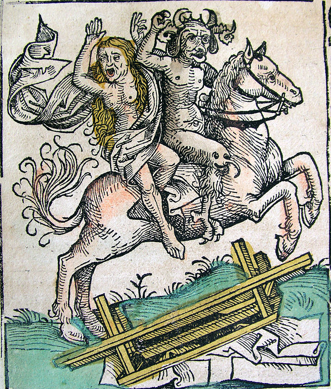 654px-Nuremberg_chronicles_-_Devil_and_Woman_on_Horseback_(CLXXXIXv)