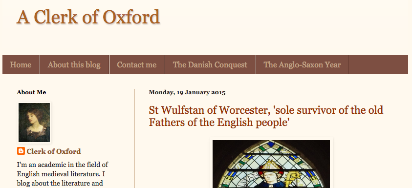 A Clerk of Oxford wins best History Blog of the Year award