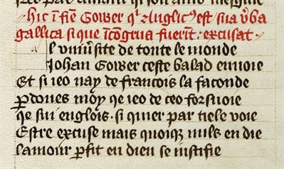 Medieval Latin and Old French - French with Latin headings