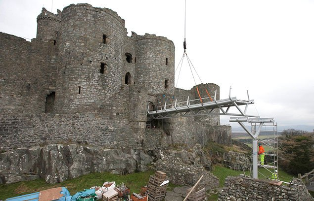 Harlech Castle bridge - photo courtesy CADW