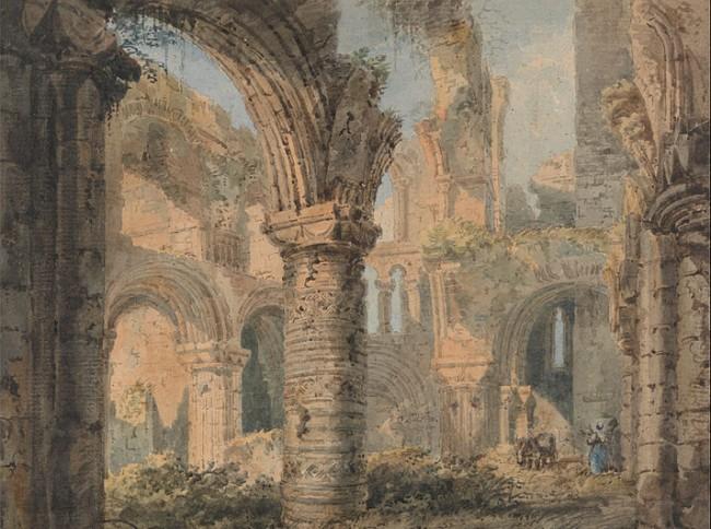 Lindisfarne ruins - created by  Thomas Girtin (1775–1802)
