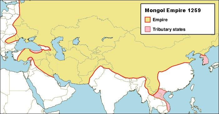 Mongol Empire - illustration by Keith Pickering / Wikicommons