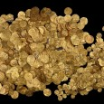 Nearly 2,000 coins, the largest treasure hoard ever discovered in Israel, was found a few weeks ago in the waters off the medieval port of Caesarea.