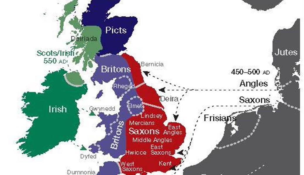 Map Of England 600 Ad.Researchers Create Genetic Map Of The British Isles