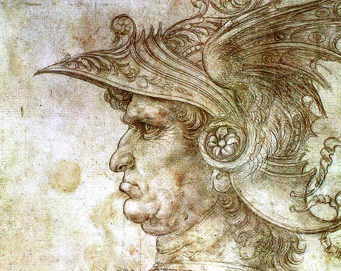 Condottiero drawing by Leonardo da Vinci