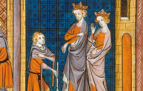 Henry II and  Eleanor - 14th century depiction