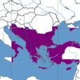 A five-minute video shows the fortunes of the Byzantine Empire, from the year 396 to the fall of Constantinople to the Ottomans in 1453