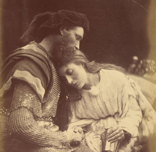Parting of Sir Lancelot and Queen Guinevere by   Julia Margaret Cameron