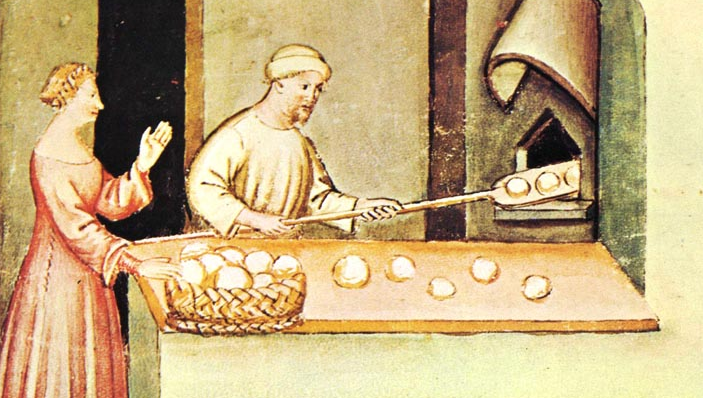 medieval bread making
