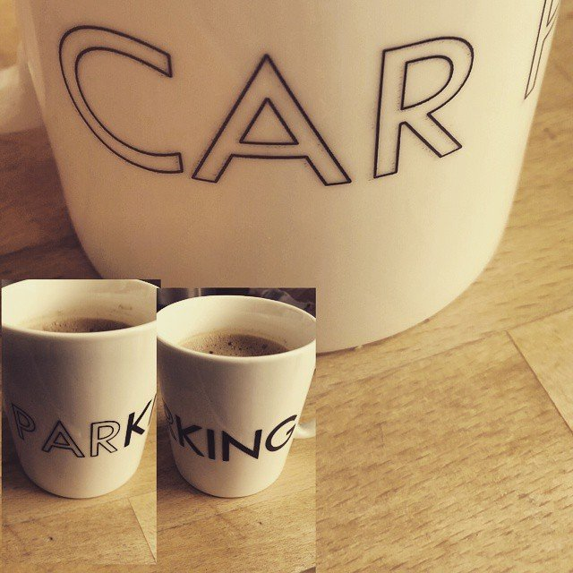 My corny, but awesome CarparKING mug. I was there! Photo by Medievalists.net