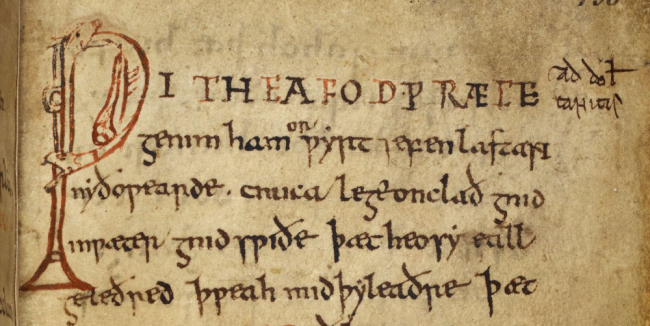Anglo Saxon Cures Lacnunga - British Library MS Harley 585