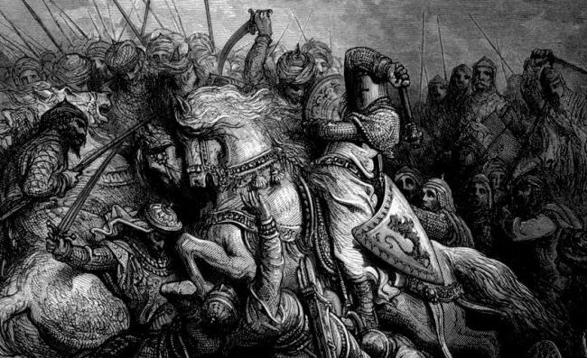 Gustave Dore crusades battle
