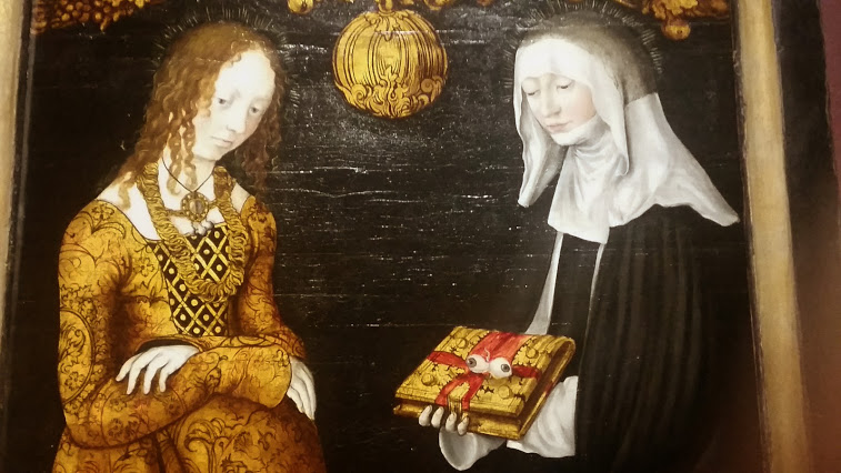 Saints Christina and Ottilia by Lucas Cranach the Elder (1506)