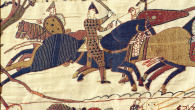 The Bayeux Tapestry is a complex visual history of the Norman Conquest of England. Its creation and the story it weaves were defined by its dichotomous authorship, its physical form as textile art and its analogous narrative imagery.