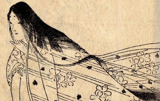 Ono no Komachi - Painting by Kikuchi Yosai (1781–1878)