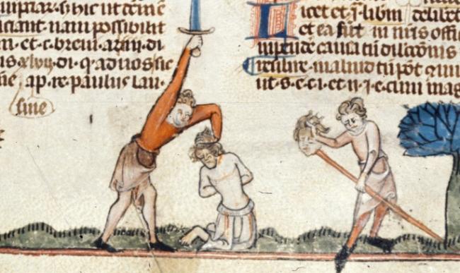 beheading - British Library Royal 10 E IV   f. 208