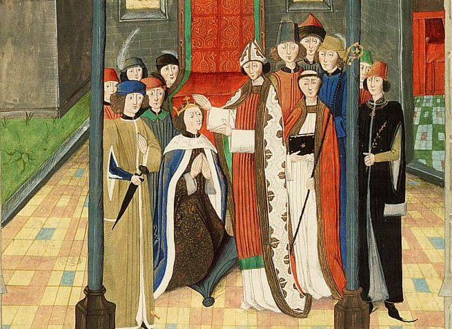 coronation of Richard II - 15th century