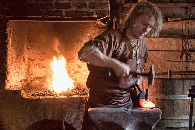 medieval blacksmith - photo by Hans Splinter / Flickr