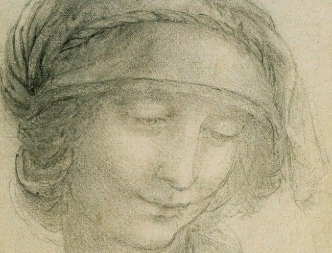 The head of St Anne  - Leonardo da Vinci