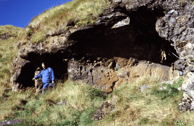 Seljalandshellar cave in the Westman Islands  - Photo by Kristjan Ahronson