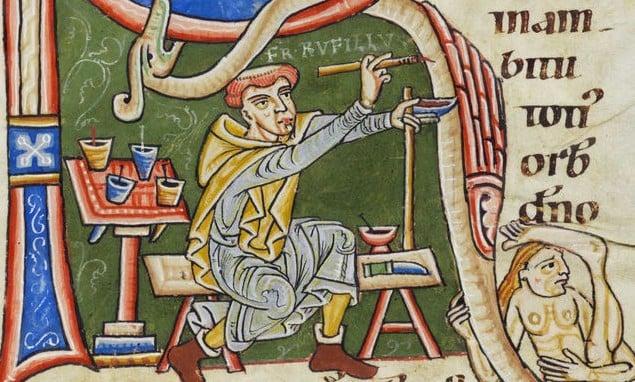 medieval self-portraits
