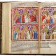 The Bible moralisée of Naples (c. 1340-1350, Naples, Italy) is housed in the Bibliothèque nationale de France, Paris.