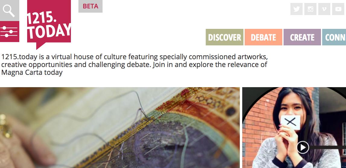 Unique digital platform to explore Magna Carta through art