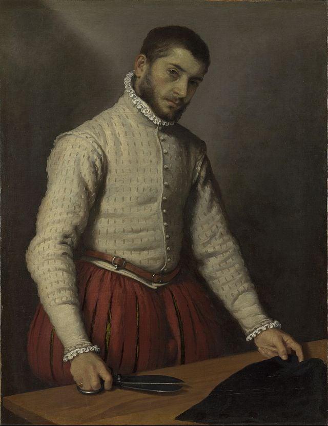 Giovanni Battista Moroni - The Tailor ('Il Tagliapanni') 1570-1575, National gallery London - Google Art Project