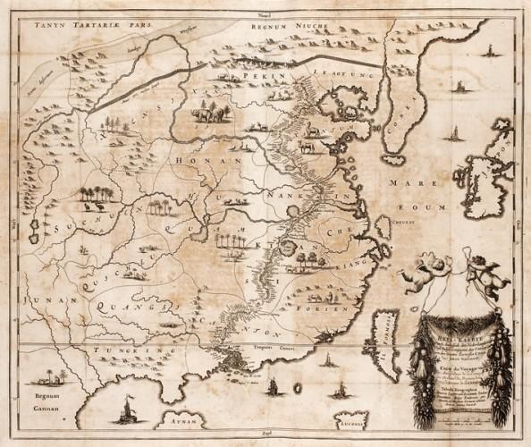 17th century map of China, by Johan Nieuhof (1618-1672)