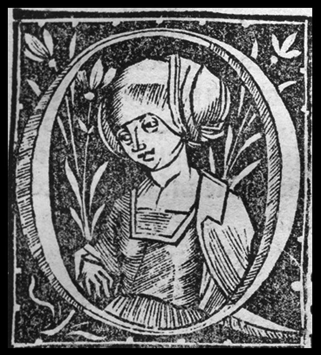 Paul of Aegina, as pictured in a 16th-century woodcut.