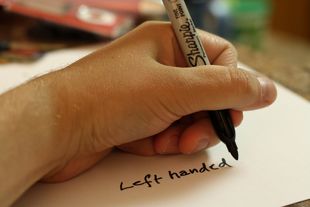 left handed - photo by Derek Bruff / Flickr
