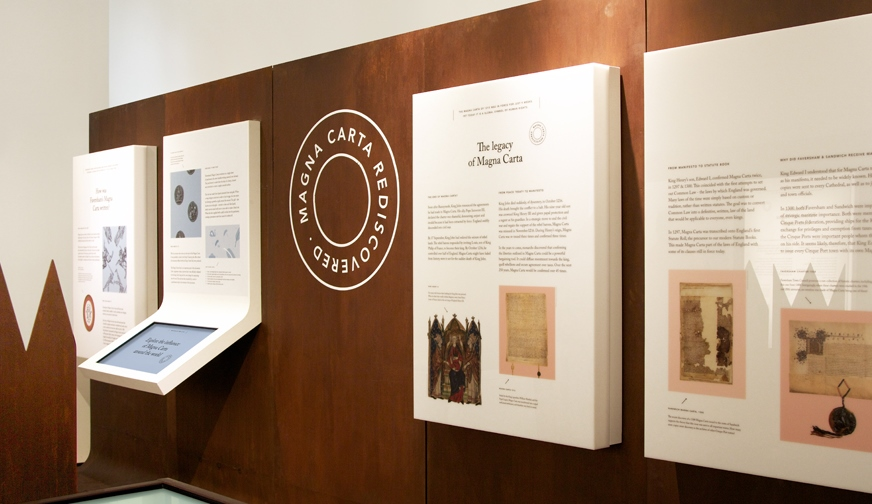 magna carta exhibit - photo courtesy Kent County Council