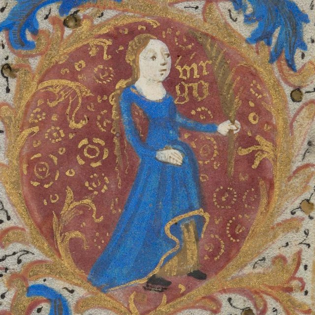 Zodiac sign of Virgo in a 15th century manuscript - Photo by e-Codices / Flickr