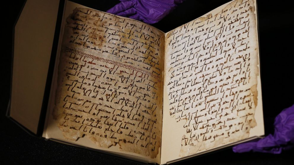 oldest quran manuscript - photo courtesty University of Birmingham