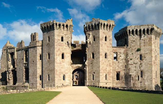 Raglan Castle - photo courtesy Cadw