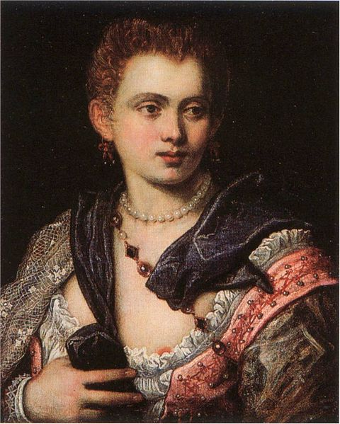 Veronica Franco, painted by Domenico Tintoretto (1560–1635)